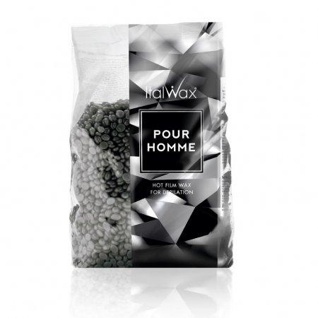Granulinis (plėvelinis) karštas vaškas Italwax Pour Homme (vyrams), 1kg