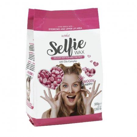 """Granulinis (plėvelinis) karštas vaškas veido depiliacijai Italwax """"Selfie"""", 500 g"""
