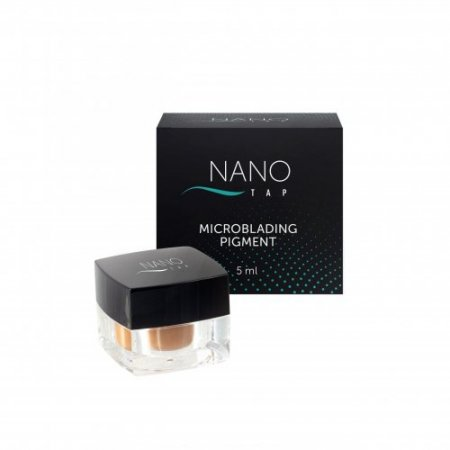 Nano Tap microblading pigmentas pilkai rudas (dark ash brown)