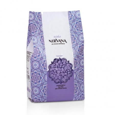 Granulinis (plėvelinis) karštas vaškas Italwax Nirvana Lavender, 1 kg