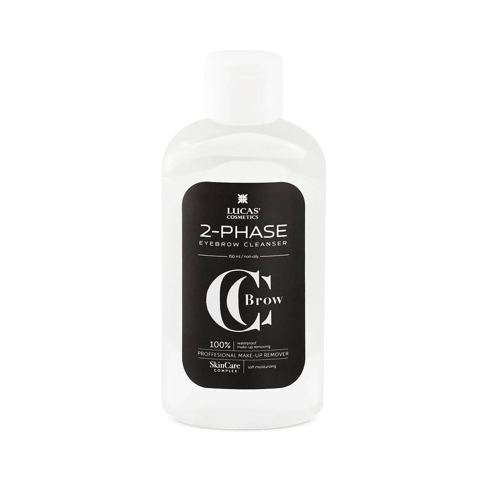 Dviejų fazių antakių makiažo valiklis - 2-phase Eyebrow Cleaner, CC Brow, 150 ml