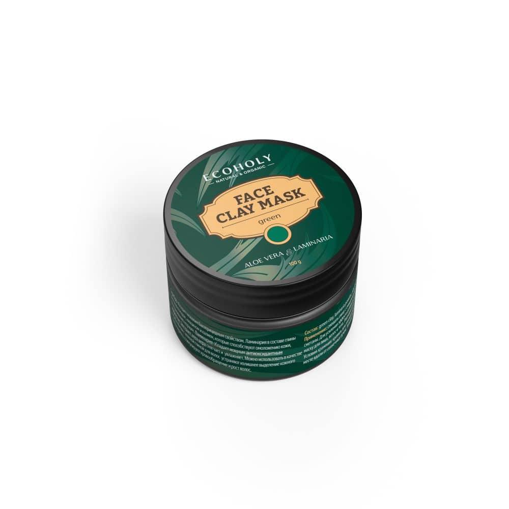 Žaliasis molis su rudadumbliais ir alavijo ekstraktu